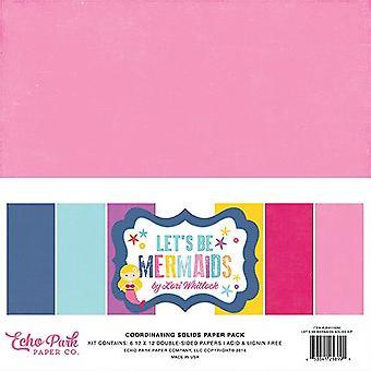 Echo Park Let&s Be Mermaids Koordynujący bryły 12x12 calowy papierowy pakiet