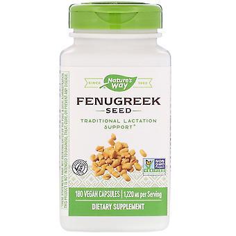 Nature's Way, Bockshornkleesamen, 1.220 mg, 180 VeganE Kapseln