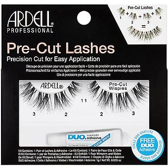 Ardell Pre-Cut False Eyelashes - Wispies Black - Duo Adhesive Included