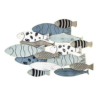 Hand-Painted with Metallic Fish Gold Edge Wall Decor