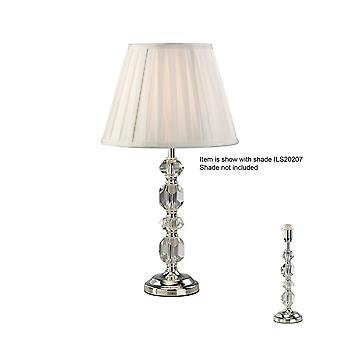 Krystal bordlampe (skygge sælges separat) 1 Light Silver