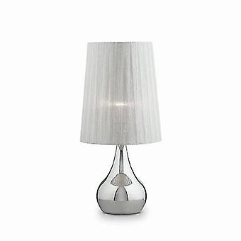 Ideal Lux Eternity - 1 ljus stor bordslampa Krom, Vit, E27