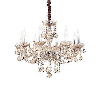 Ideale Lux Rose - 8 Licht Anhänger Licht Bernstein