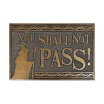 "Lord of the Rings ""You Shall Not Pass!"" Rubber Grip Doormat"