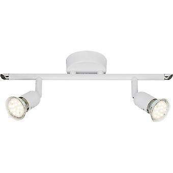 BRILLIANT Lampada Loona LED Spot Tube 2flg Bianco Lampade riflettore a LED 2x-PAR51, GU10, 3W incluse, (250lm, 3000K) Scala