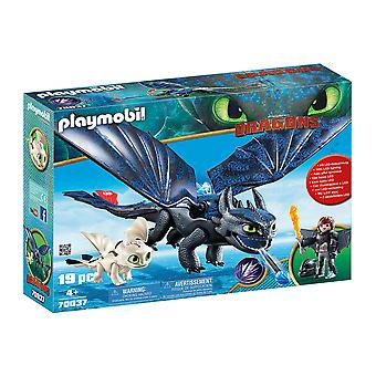 Playmobil DreamWorks Dragons Hiccup and Toothless With Baby Dragon 19PC Playset