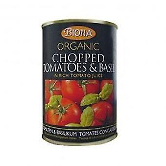 Biona - Org Chopped Tomatoes & Basil 400g