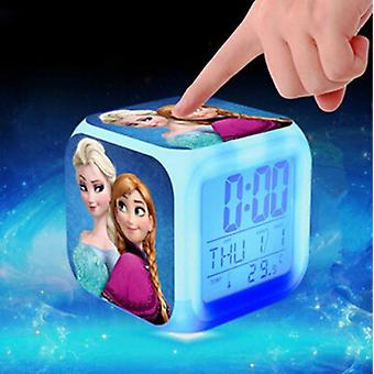 Princess Elsa, Anna - Color Changing Led Digital Alarm Clock