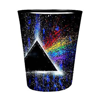 Pink Floyd Shot Glass Dark Side of the Moon Prism Logo Official Black