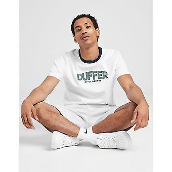 New Duffer Men's Oxford Short Sleeve T-Shirt White