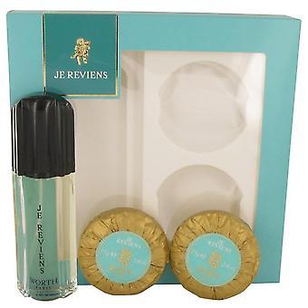 Je Reviens Gift Set By Worth 1.7 oz eau De Toilette Spray + 2 x 2.6 oz Soap