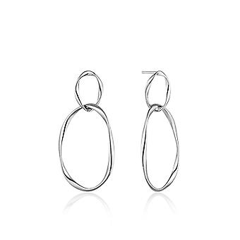 Ania Haie Sterling Silver Rhodium Plated Swirl Nexus Earrings E015-02H