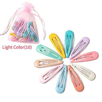 Snap Hair Clips For Hair Clip Pins Bb Hairpins Color Metal Barrettes Child