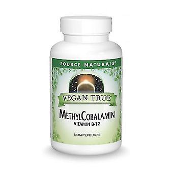 Kilde Naturals Vegan True Methylcobalamin Vitamin B-12, 1 mg, Cherry 60 Faner