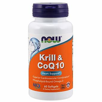 Now Foods Krill Oil & Coq10 Heart Support, 60 Soft Gels