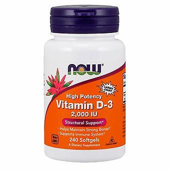 Nå Foods Vitamin D-3, 2000 IE, 2000 IE 240 Softgels