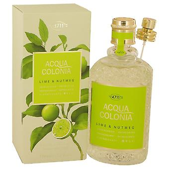 4711 Acqua Colonia Lime & Nootmuskaat Eau De Cologne Spray Door 4711 5,7 oz Eau De Cologne Spray