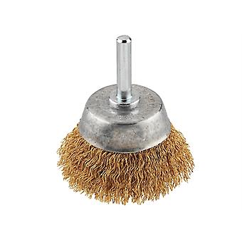 KWB Crimped Brass Wire Cup Brush 50mm Fine KWB609110