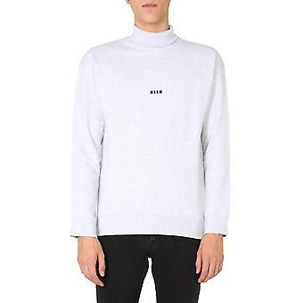 Msgm 2940mm10820759794 Mænd's Grå Bomuld Sweatshirt