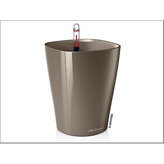 Lechuza Deltini Self Watering Pot Taupe 18cm 14904