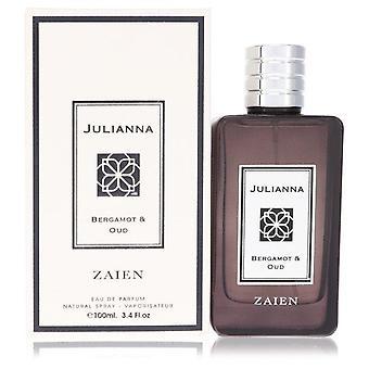 Julianna bergamot & oud eau de parfum spray (unisex) by zaien 553442 100 ml