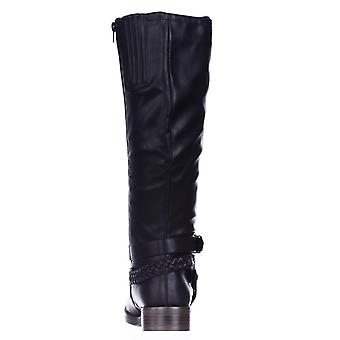 XOXO Womens -Wide Calf Closed Toe Knee High Riding Boots