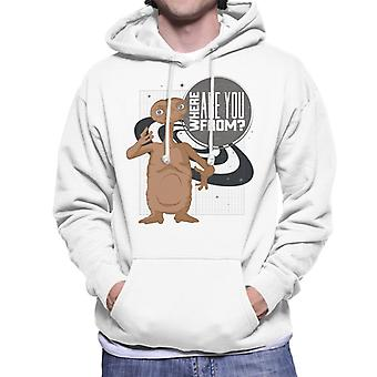 E.t. Where Are You From Men's Hooded Sweatshirt