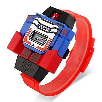 Водонепроницаемый Luminous светодиодные цифровые часы Touch Дети - красный