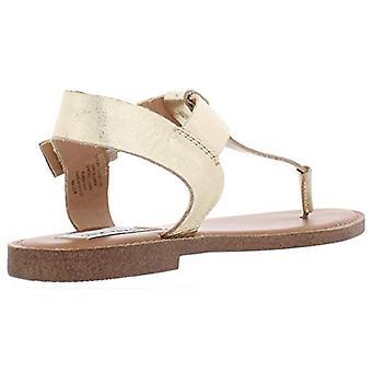 Steve Madden Womens Skylar Leather Open Toe Casual Slide Sandals