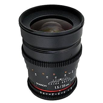 Rokinon 35mm t1.5 ed as if umc cine wide angle lens for olympus and panasonic...