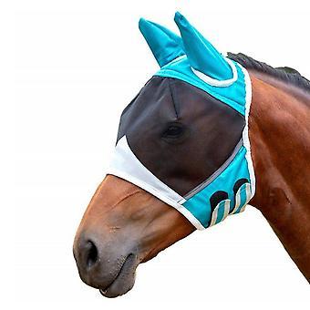 Paard afneembaar Mesh Masker met neusdekking, Horse Fly, Anti-mug Bandage