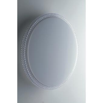 Fan Europe Pixel - Geïntegreerde LED Dimmable Flush plafondlamp, plus achtergrondverlichting,