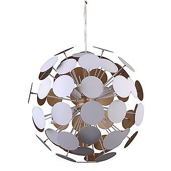 Modern opknoping hanghanger wit, Gouden 6 Licht, E14