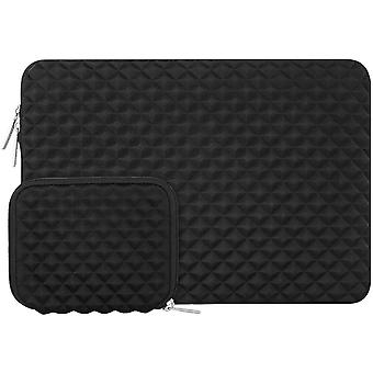 Mosiso laptop sleeve compatible with 13-13.3 inch macbook pro/air, notebook diamond foam neoprene ba