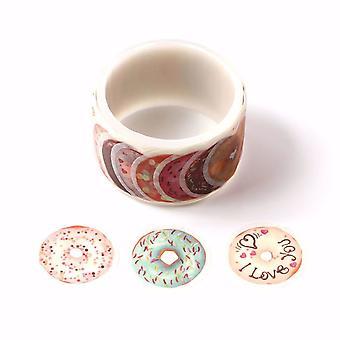 סוגים רבים של סופגניות / סופגניות Washi קלטת מדבקות לגלגל 27mm x 100 מדבקות