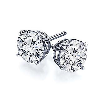 Boucles d'oreilles 14k Gold 4-Prong Round Cut Diamond Stud 0.50 Carat