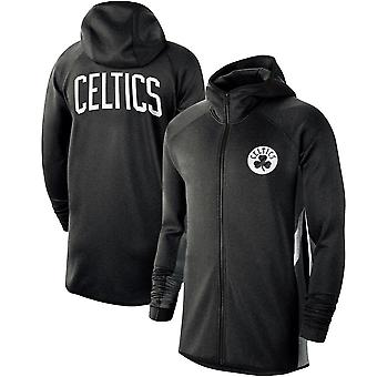 Boston Celtics Heathe Showtime Therma Flex Performance Full Hoodie Top WY113