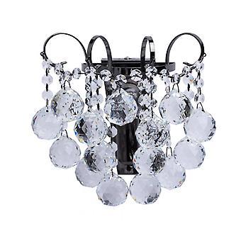 Gray Wall Light Design Crystal 1 Bulb 15 Cm
