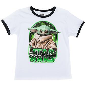 מלחמת הכוכבים המנדלוריאן הילד דמות רינג'ר ילדים חולצת טריקו