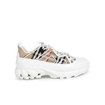 Burberry 8037254a7026 Heren's Beige Cotton Sneakers