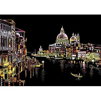 Magic Scratch Art Crafts World City, Scraping, Paintings And Decorative Paper