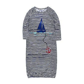 Stripes Baby Sleeper Romper, Bamboo Fabric Long Sleeve Autumn Sleepwear