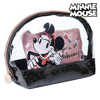 Toilet Bag Minnie Mouse Black (2 pcs)