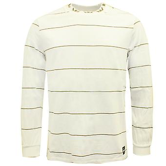 Supra Mens Banded Long Sleeved Crew T-Shirt Casual Top White 102087 115 A38A