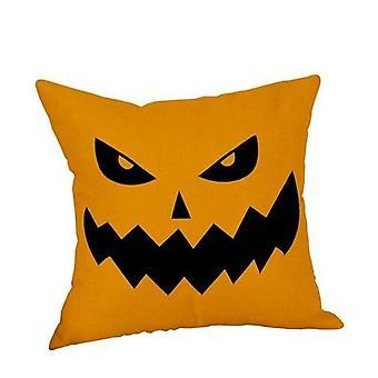 Happy Halloween Throw Pillow Cover Pillow Case Letter Print Pillowcase