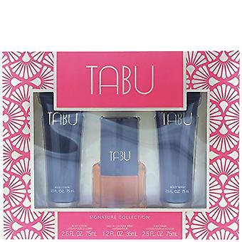 Dana Tabu Gift Set 35ml EDC + 75ml Body Lotion + 75ml Body Wash