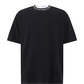 Acne Studios Bl0221black Men's Black Viscose T-shirt