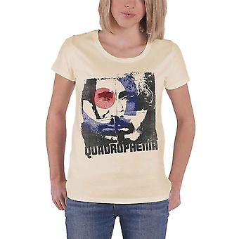 The Who T Shirt Quadrophenia band logo Official Womens New Skinny Fit