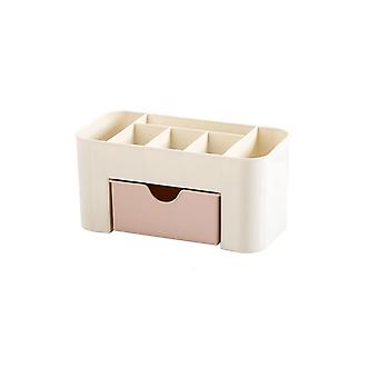 Plastic Cosmetic Storage Box, Drawer - Makeup Jewelry Organizer