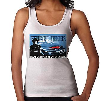 Knight Rider Chicks Dig My Car Women's Vest